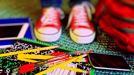 образование, училище, отново на училище, студент, разговаряте, IPAD, iPhone