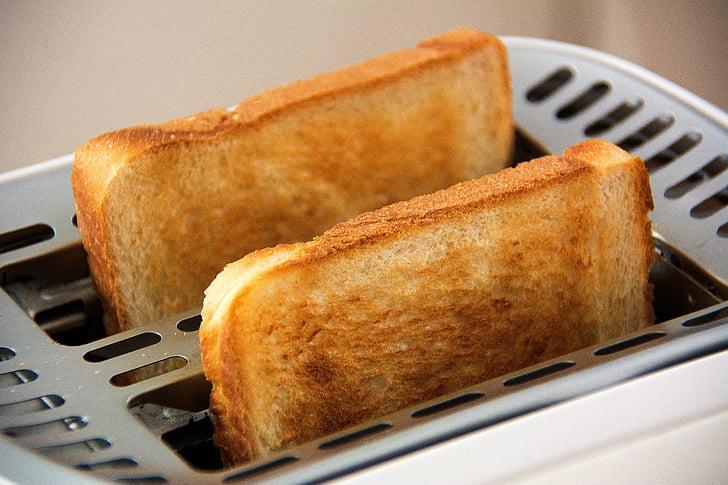 leib, Hommikusöök, süüa, toidu, viilu röstsaia, röstsai, Röstitud leiva