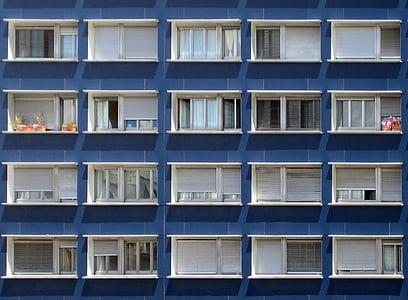 windows, building, pattern, modern, architecture, design, sequence