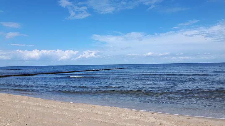 sea, baltic sea, beach, water