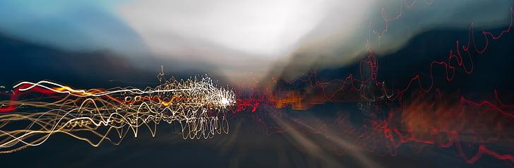 Trasee uşoare, Rezumat, bokeh, fundal, lumini, înceţoşată