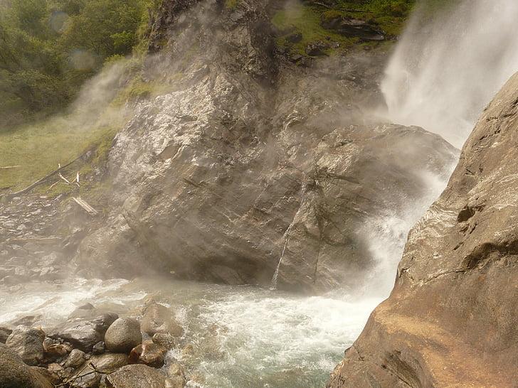 víz, vízesés, partschins vízesés, spray, hab, természet, Nevezetességek