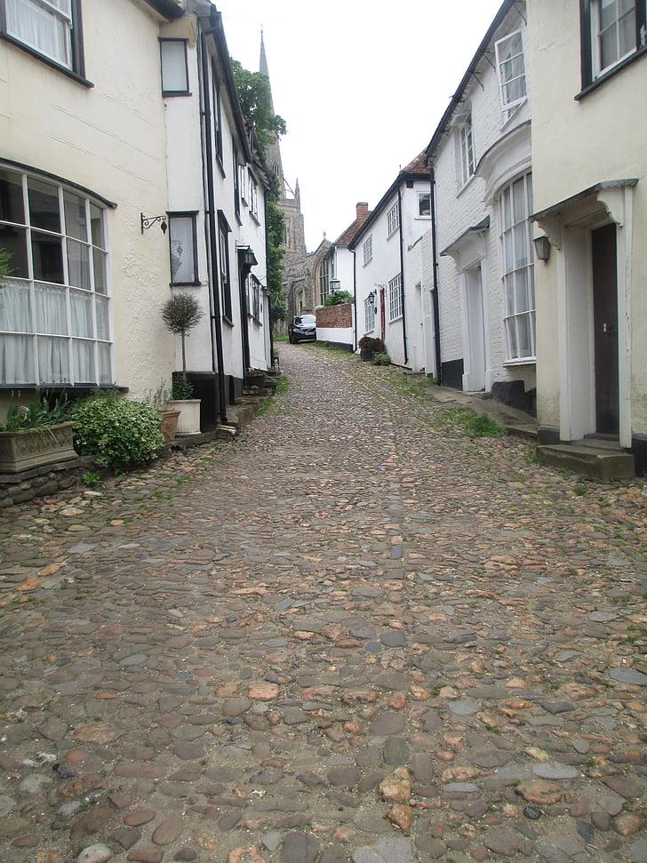 Anglie, dlažební kostky, cesta, Domů, budovy, staré, Domů Návod k obsluze