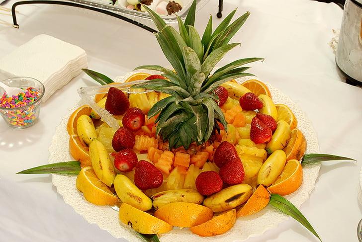 fruita, còctel de fruites, peça central, dieta