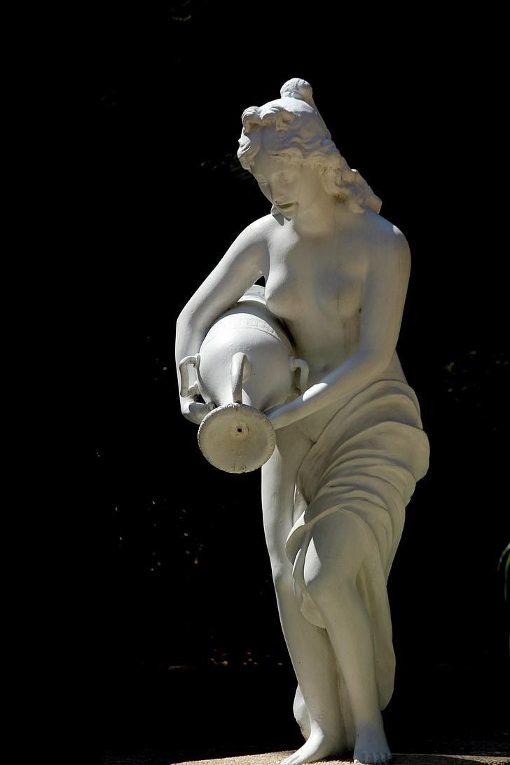 lady jar statue, lady jar, statue, lady statue, decoration, display, lady