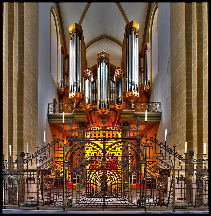 器官, dom, 帕德博恩, 网格, 教堂风琴, 器官口哨, 文书