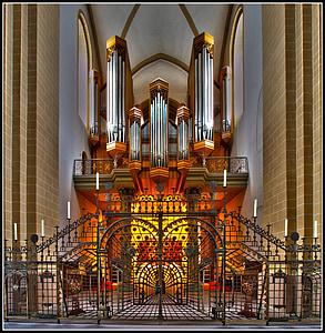 òrgan, Dom, Paderborn, quadrícula, òrgan de l'església, xiulet de l'òrgan, instrument