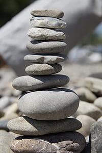 stenar, stentorn, stacken, staplade, Cairn, tornet, balans