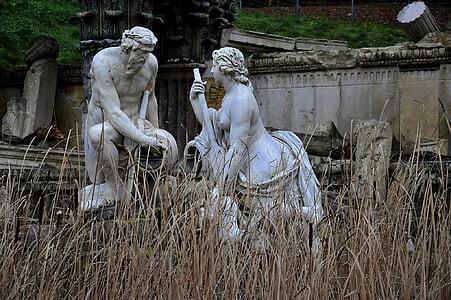 skulptur, Utomhus, Österrike, landmärke, antika, kultur, staty