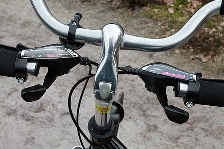 upravljači, zupčanici, bicikl, stražnji mjenjač, Shimano, bicikala, sportski
