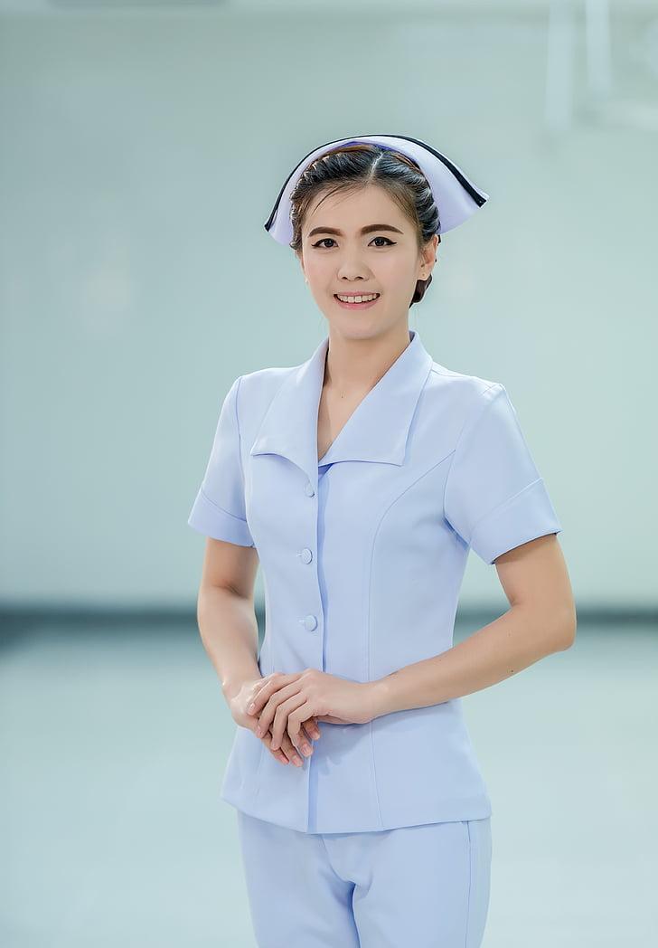 caretaker, cute, girl, happy, healthcare, lady, medical