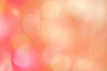 Bokeh, vaaleanpunainen, oranssi, tausta, rakenne
