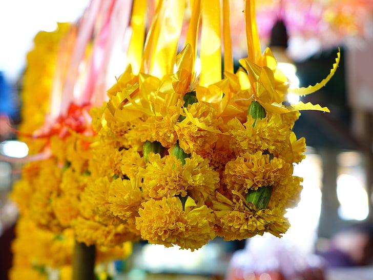 Sampaguita çiçekler, Tayland, dua, Yasemin, koku