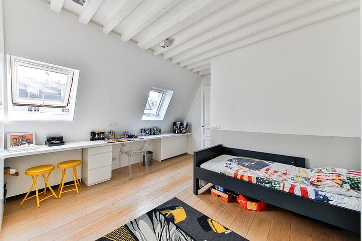 room boy, modern room, nursery, child decoration, indoors, domestic room, home interior