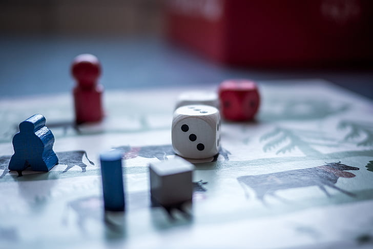 dice, game, pawn, board game, chance, leisure Games