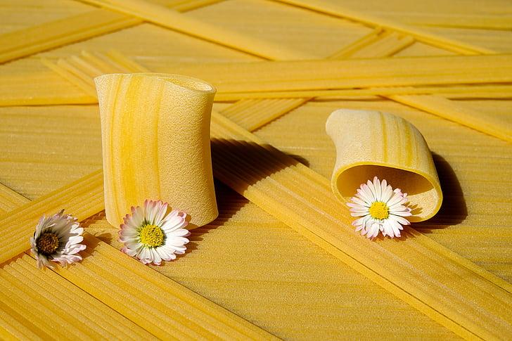 fideus, crua, Paccheri giganti, pastes, groc, aliments, aliment bàsic