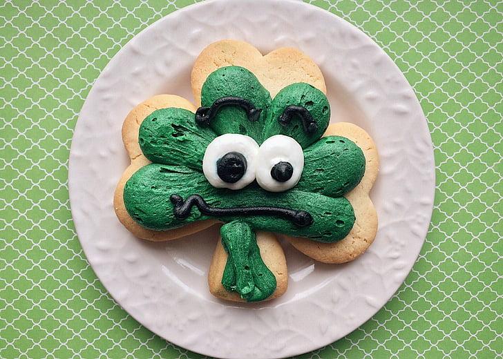St. Patricks day, Urlaub, Klee, Cookie, St. Patricks day, grüne Farbe, tierische Darstellung