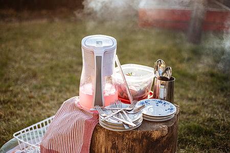plaques, Cullera, forquilles, coberts, cuina, Estris, pícnic
