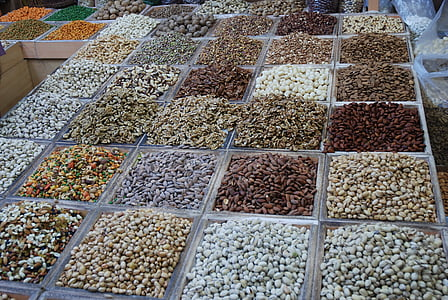 gia vị, thị trường, ăn, hạt cà phê, gian hàng thị trường, Đại lý, phương đông