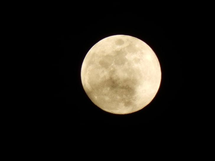 Lluna, ple, platja