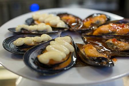Musclos, marisc, cuina mediterrània