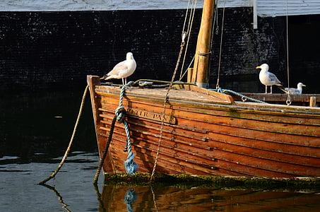 perahu nelayan, Port, romantis, air, boot, pelabuhan perikanan, Memancing kapal