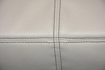 cuir, Art de la pell, referència, sofà, mobles, mobles d'estar, blanc