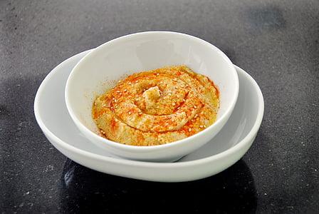 l'humus, menjar sa, aliments, aliments i begudes, alimentació saludable, no hi ha persones, frescor