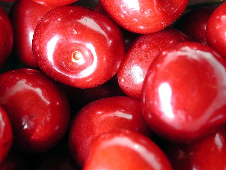 vyšnios, vaisių, mielas, skanus, raudona, maisto, valgyti