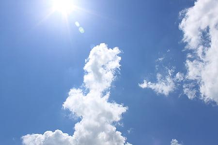 felhők, Sky, ég felhők, kék ég felhők, kék, természet, Időjárás