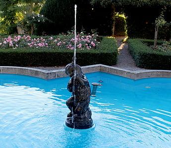suihkulähde, suihkulähde korut, veistos, vesi, veden ominaisuus, Park, Seeburg park