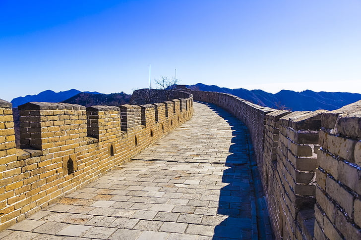 china, beijing, the great wall, the city walls, the scenery, wall, building