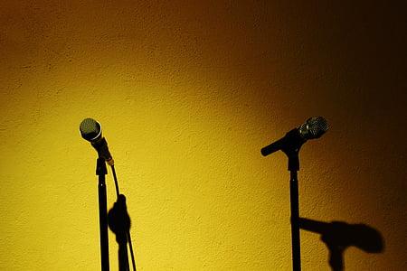 microphone, recording studio, music, singing, art