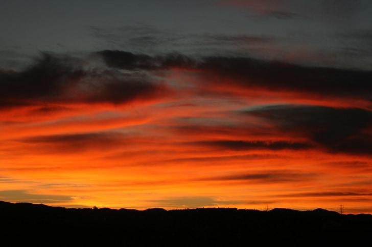 Alba, matí, núvols, posta de sol, paisatge de l'Alba, bonica, paisatges