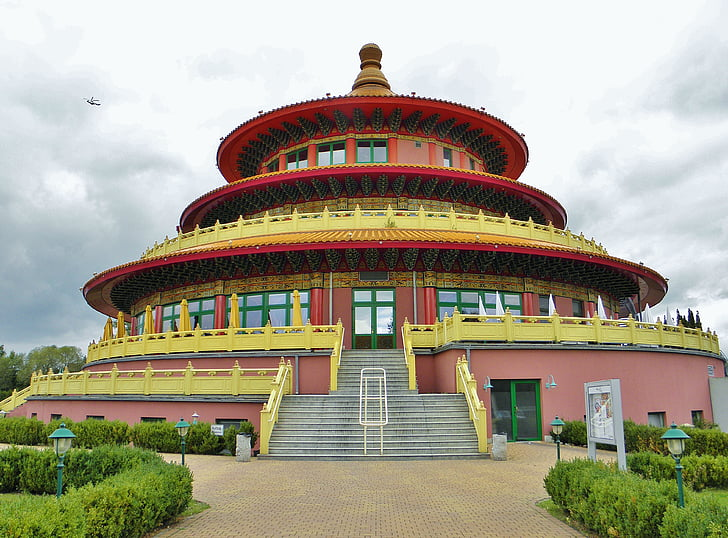 pagoda, china, restaurant, about, architecture