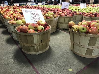 õunad, saagi, toidu, puu, orgaaniliste, Sügis, loodus
