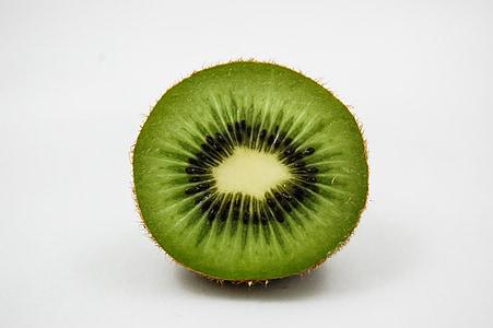 quivi, metade, frutas, vitaminas, uma alimentação saudável, verde, fresco