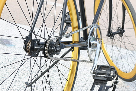 velosipēdu, velosipēdu Gear, velosipēds, pedālis, spieķi, riteņi, rats