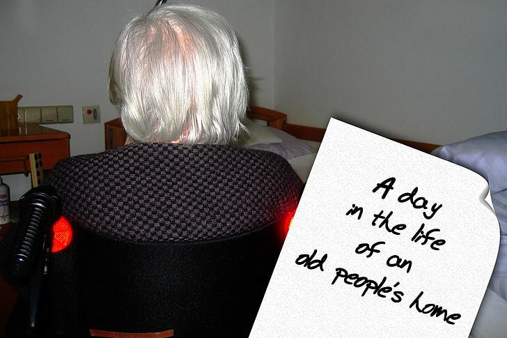 Casa de bătrâni, Casa de pensii, vechi, vârsta, demenţă, Alzheimer, grija pentru vârstnici