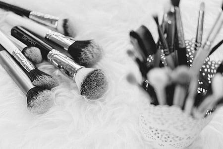 maquillatge, raspall, coses, Kit de, bellesa, cosmètica, entelar