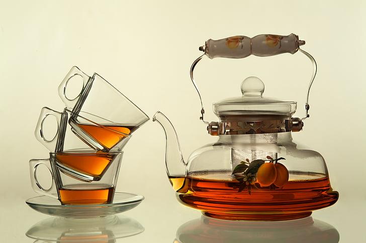 čaj, čajanka, stakleni proizvodi, staklo, mrtva priroda, Nema ljudi, teabag