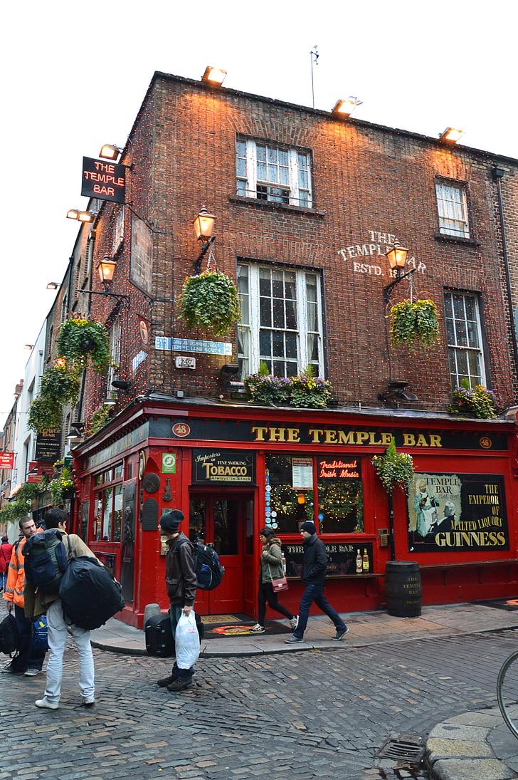 temple bar, Dublin, Baar, Iirimaa, City, arhitektuur, Landmark