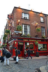 der Temple bar, Dublin, Bar, Irland, Stadt, Architektur, Wahrzeichen
