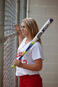 player, bat, athlete, looking, teen, young, sport