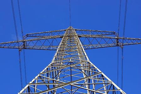 strommast, current, line, power poles, power line, electricity, high voltage