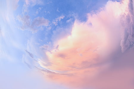 pink, clouds, photo of the clouds, the cloud, cloud - sky, sky, sunset