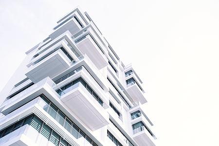 arquitectura, edifici, blanc