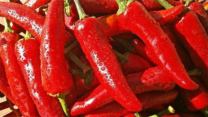 fruta, pimienta, vegetales, verduras, naturaleza, alimentos, rojo