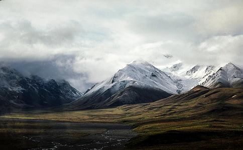 Alps, núvols, ennuvolat, terres altes, paisatge, Serra, muntanyes