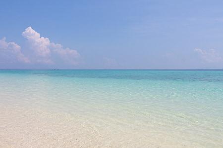 Mar, platja, illa, vacances, cel, l'aigua, natura